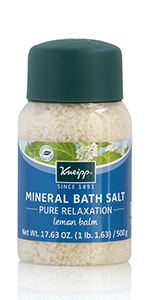 Lemon Balm Melissa Bath Salt and Epsom Salt for Pure Relaxation Salt Bath to Detox and Stress Relief