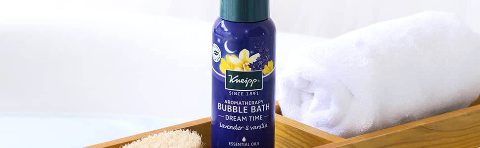 Lavender and Vanilla Bubble Bath for Aromatherapy with Lavender Essential Oils