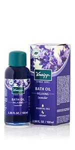 Lavender Bath Oil with Herbal Essential Oils for Bath Soak