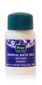 Kneipp Lavender Mineral Bath Salt Soak for Relaxing and Stress Relief for the Perfect Sleep Bath