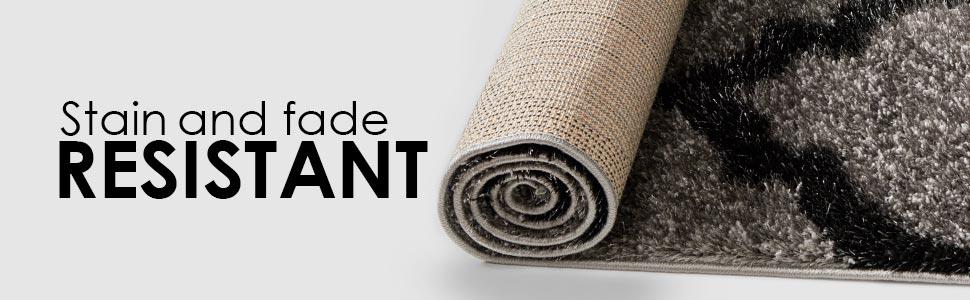 Well Woven Corsa Shimmer Shag Plush Soft Luster Poly Shag Area Rug Carpet