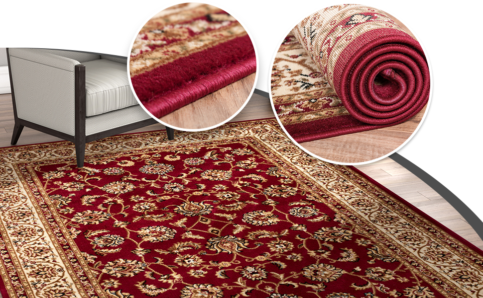 Amazon Com Noble Sarouk Red Persian Floral Oriental
