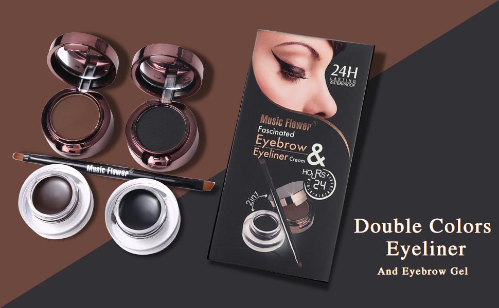 Double Colors Eyeliner Eyebrow Gel
