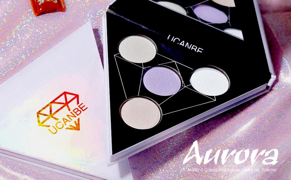 ucanbe eye face highlighter makeup palette
