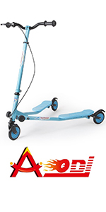 Amazon.com : AODI 3 Wheel Foldable Scooter Swing Scooter Tri ...