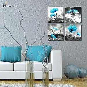 blue wall decor