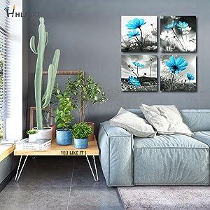 Blue Flower Wall Decor