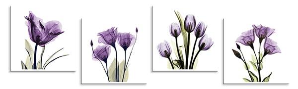 Purple Tulip Flower Wall Decor