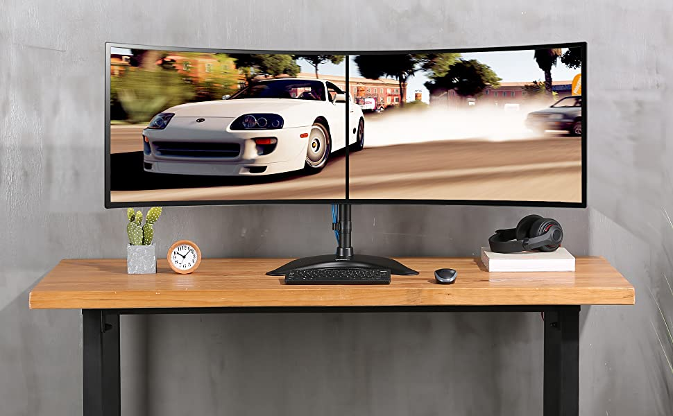 Fits desks and the cable management keeps your desk organized to regain a spacious workspace.