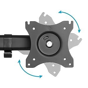 Perform The Perfect Orientation full motion vesa plate tilt rotation swivel comfortable heights
