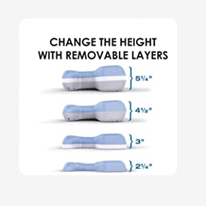 change the height of your pillow with removable layers