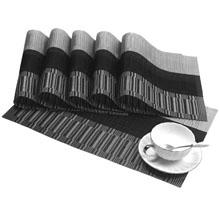 vinyl placemats black gray