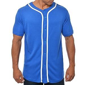 YoungLA Baseball Jersey Men Button Down Cotton 304