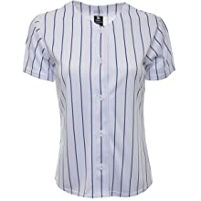 YoungLA Women Baseball Jersey Plain Button Down Shirt Tee 420