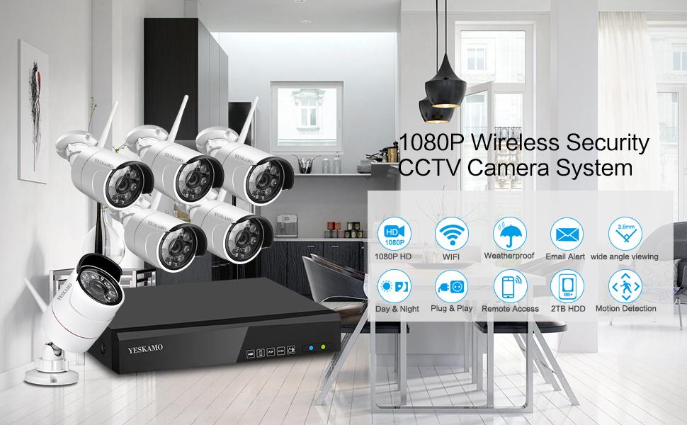amazon com   yeskamo wireless security camera system
