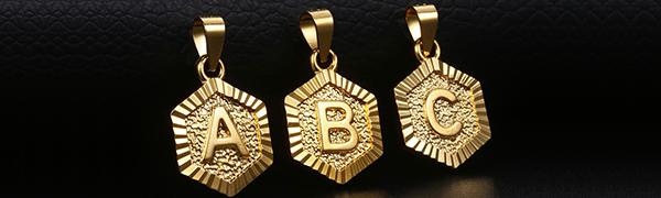 Capital Letter pendant necklace