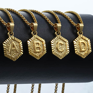 Initial A-Z Letter Pendant Necklace