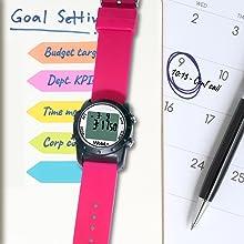 Wobl+, wobl waterproof watch, vibrating alarm reminder watch, potty watch, toilet training, pink