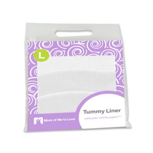 cotton tummy liner large white