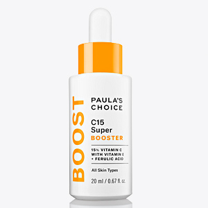 Concentrated vitamin C skin care serum brightens uneven skintone and improves appearance of wrinkles