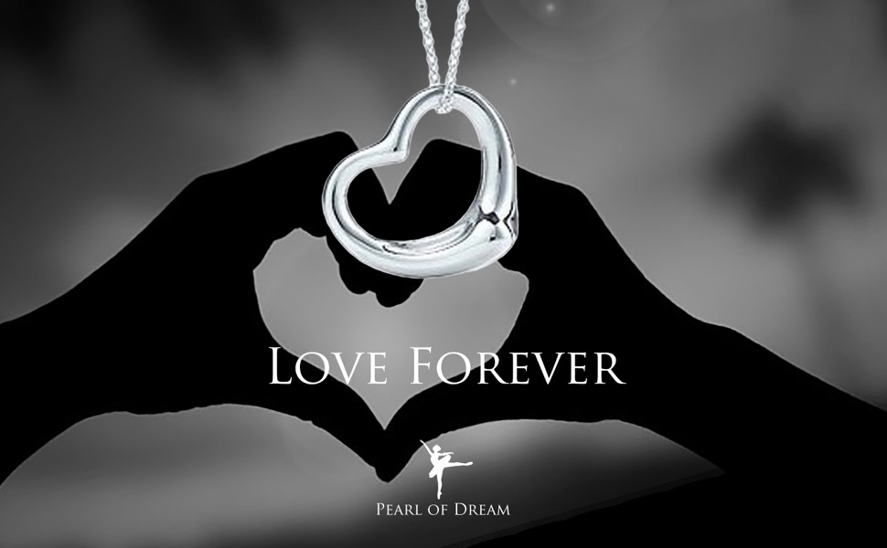 Amazon Perfect Love Open Heart Sterling Silver Pendant Necklace