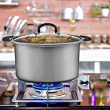 10quart slow cooker can also be used on pot and gas stoves for added versatility