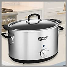 Slow-cooker is crafted from durable and robust stainless steel for required durability and longevity