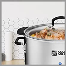 10 qt slow cooker is perfect for cooking large meals for up to 8 people. Great for gatherings