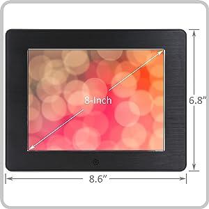 8-inch diagonal
