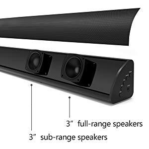 soundbar with built-in subwoofer