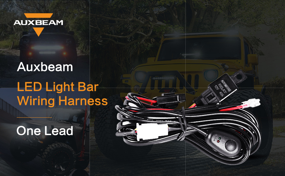 amazon com auxbeam universal led light bar wiring harness kit product description auxbeam wiring harness