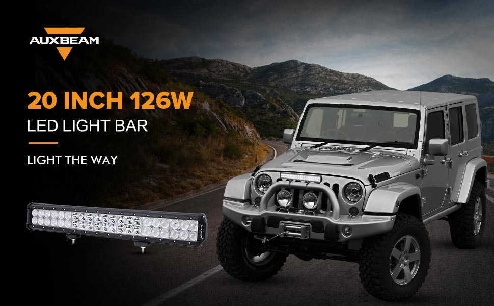 Amazon auxbeam led light bar 20inch 126w cree led bar with auxbeam 20 inch 126w led light bar aloadofball Images