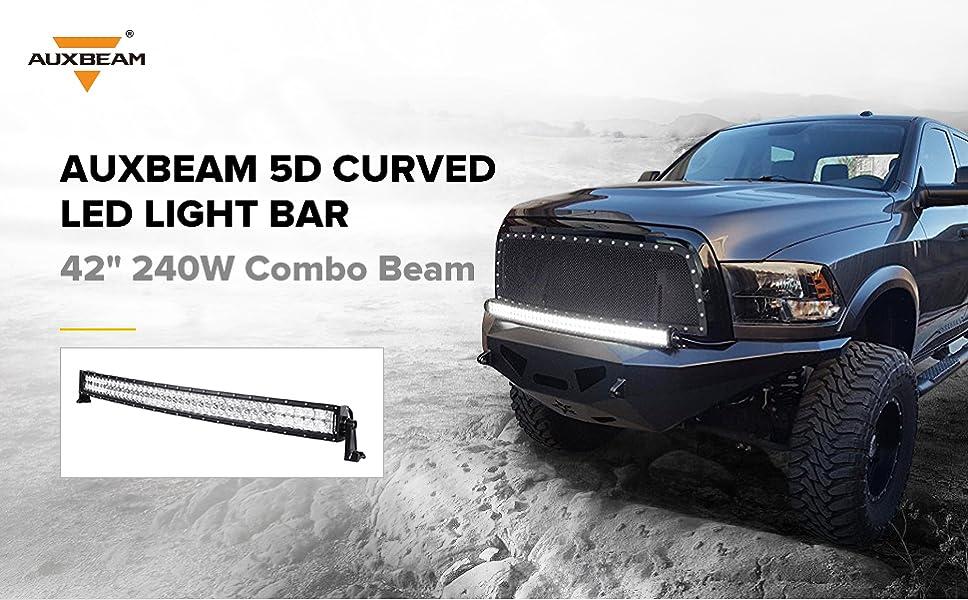 "Amazon.com: Auxbeam 42"" LED Light Bar 240W LED Work Light Off Road ..."