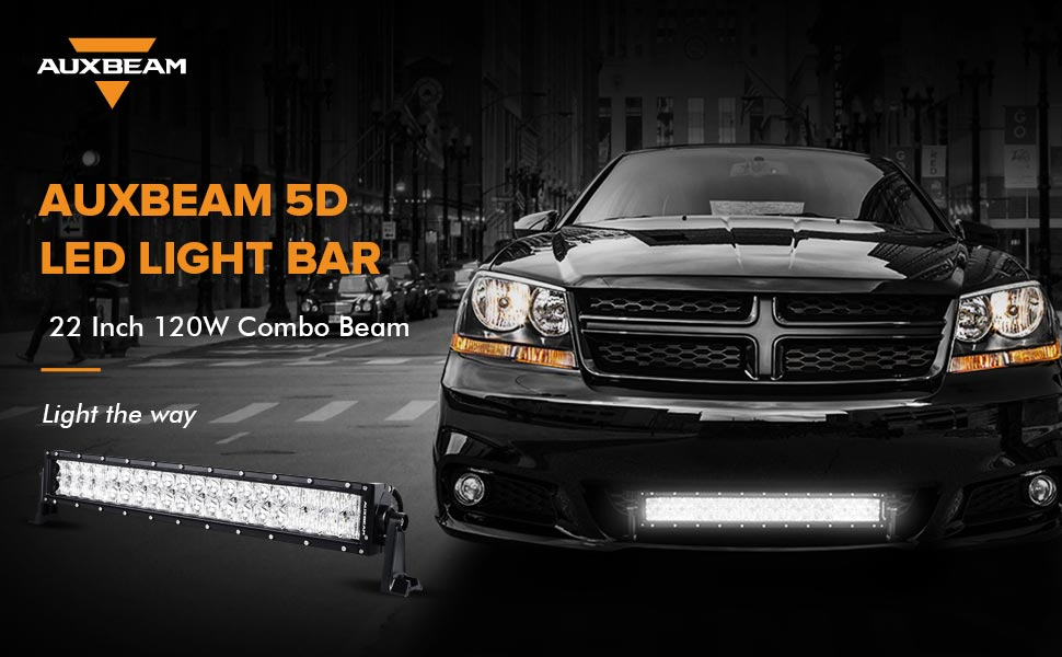 Amazon auxbeam 22 led light bar 120w led driving light off product description auxbeam 5d led light bar aloadofball
