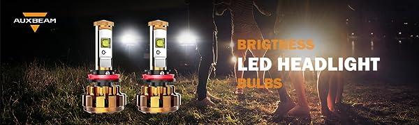 Auxbeam H11 Led Headlight Bulbs