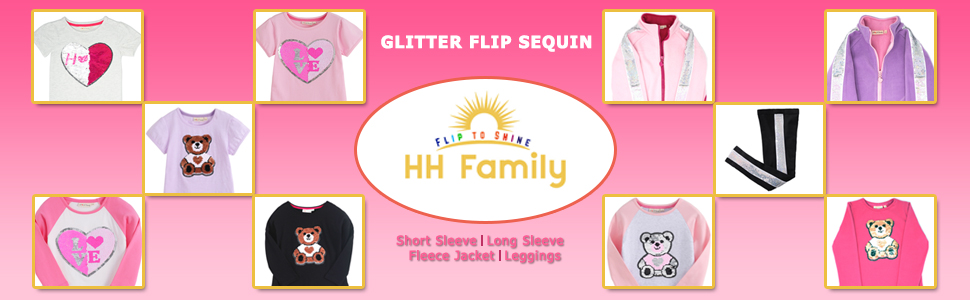 cbb30add Amazon.com: Glitter Flip Sequin Girl's T-Shirt Top Short/Long Sleeve ...