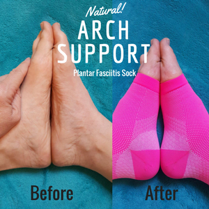 Plantar Fasciitis Socks with Arch Support for Men & Women - Best 24/7 Compression Socks Foot Sleeve for Aching Feet & Heel Pain Relief - Washes Well, ...