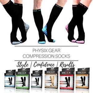 f7e3b2b676 Amazon.com: Physix Gear Compression Socks for Men & Women (20-30 ...
