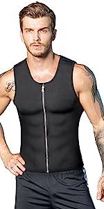 Men Neoprene Sauna Vest Weight Loss Sweat Suit Hot Corset Workout Body Shaper Waist Trainer