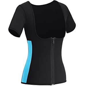 Neoprene Sauna Vest Weight Loss Sweat Suit Hot Corset Workout Body Shaper Waist Trainer with Zipper