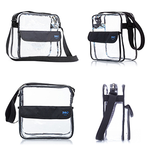This clear bag is made of sturdy clear vinyl material and features a  flexible and adjustable nylon strap. It features a large main compartment  with zipper ... 9cbd655d5