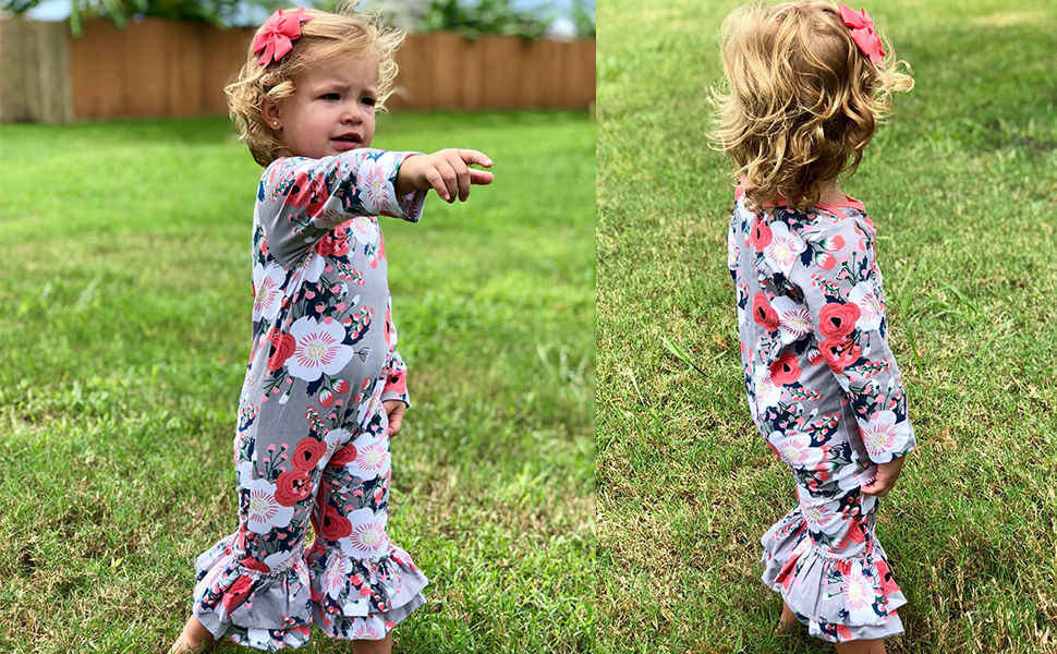 f83c79453ed Amazon.com  Cilucu Romper for Baby Girls Newborn Gown Infant Ruffle ...