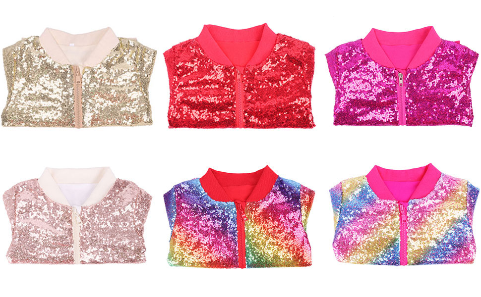 Cilucu sparkle jackets for kids girls toddlers