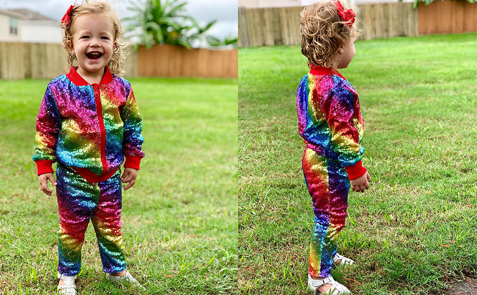 kids toddlers baby sequin jackets birthday christmas new year