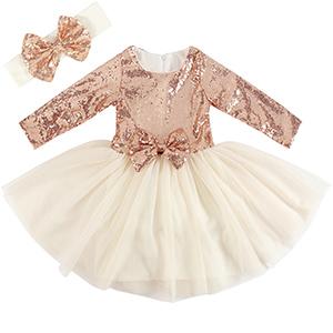 5fe6776d490 Amazon.com  Cilucu Flower Girl Dresses Toddlers Sequin Party Dress ...