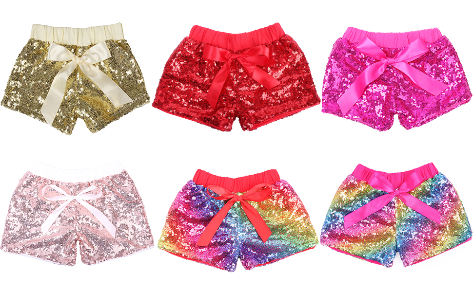 Cilucu baby girls sparkle shorts