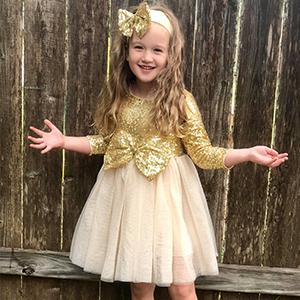 Amazon.com: Cilucu Flower Girl Dresses Toddlers Sequin