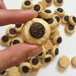 So small they don't count. Thumbs the tiny delicious cookie