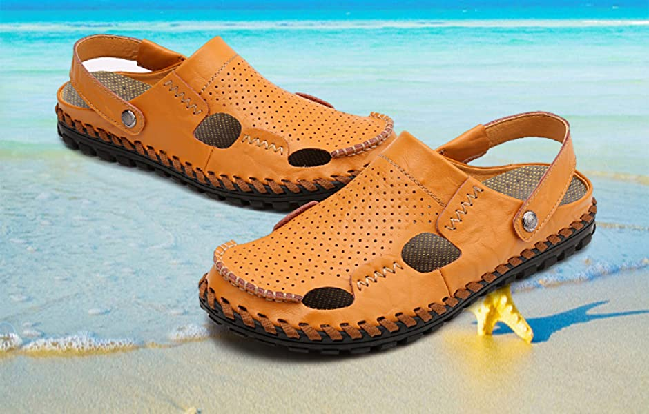 Man`s natural leather sandals 940