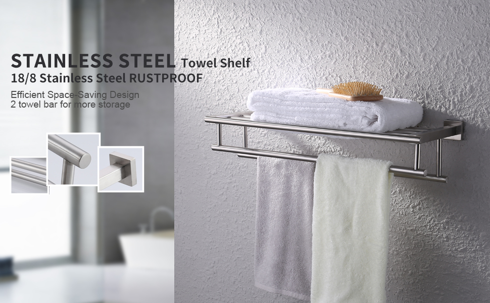Amazon.com: KES Bathroom Bath Towel Rack with Double Towel Bar 24 ...